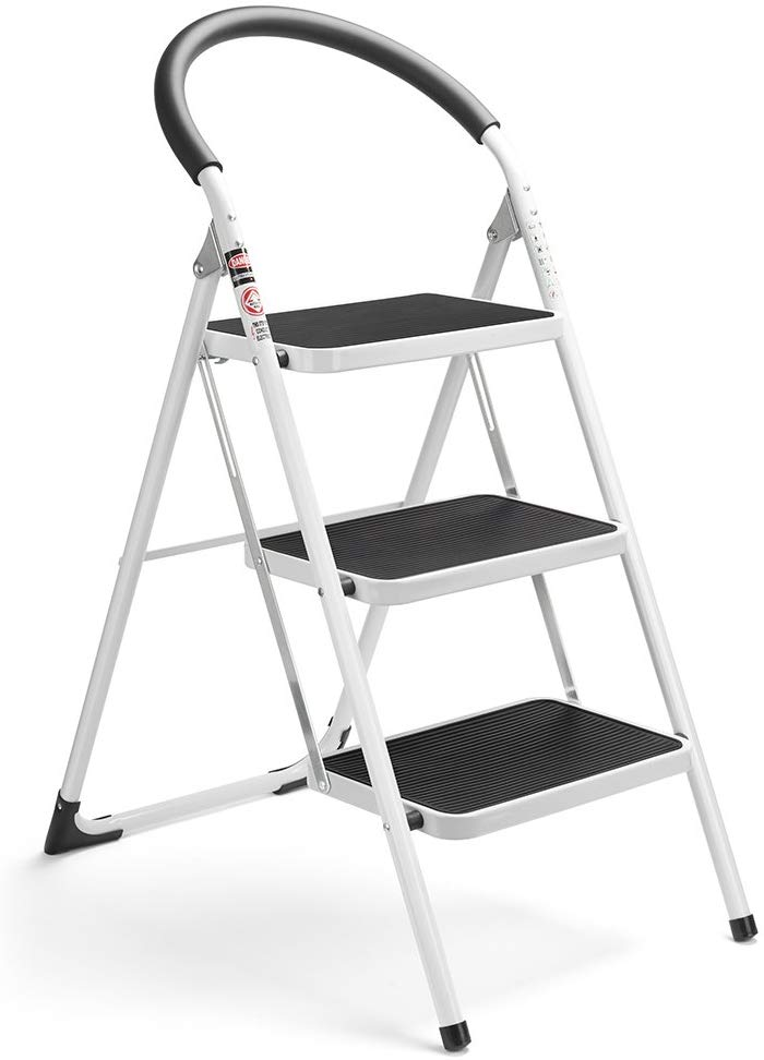 Delxo Folding Anti-Slip Step Ladder, 3-Step