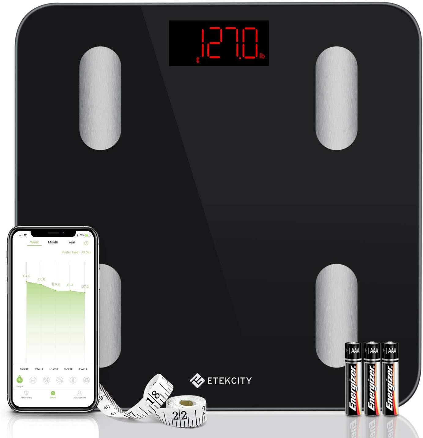 Etekcity Bluetooth Digital Body Fat Scale
