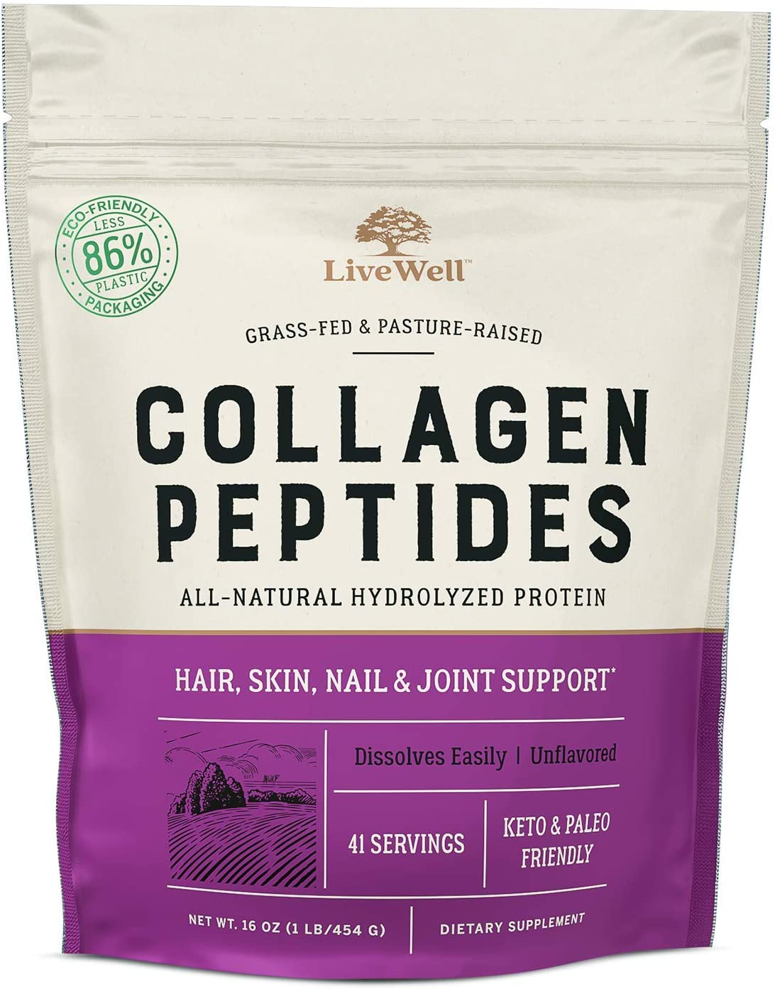 Livewell Collagen Peptides Collagen Peptide Powder
