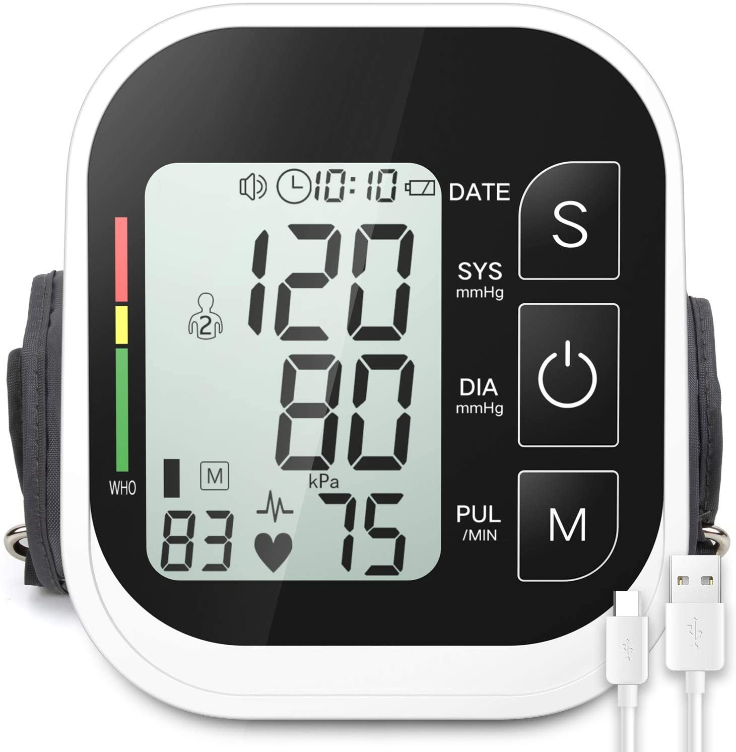 MMIZOO Large LCD Display Upper Arm Blood Pressure Monitor