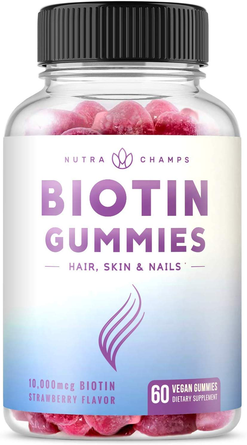 NutraChamps Biotin Gummies, 10,000mcg