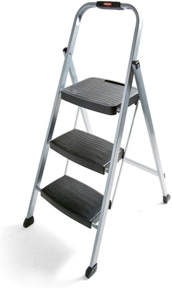 Rubbermaid Folding Stool, 3-Step