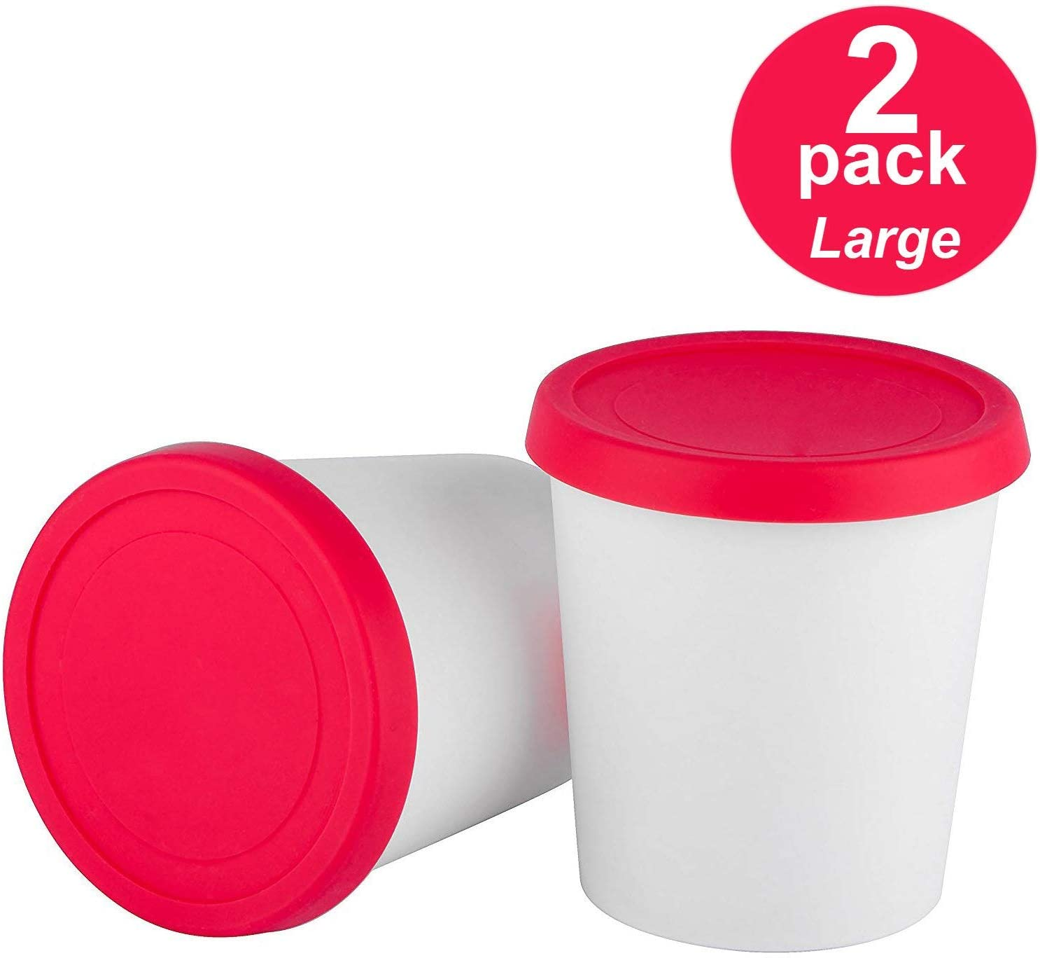 StarPack Home Freezer Ice Cream Storage Container, 2-Pack