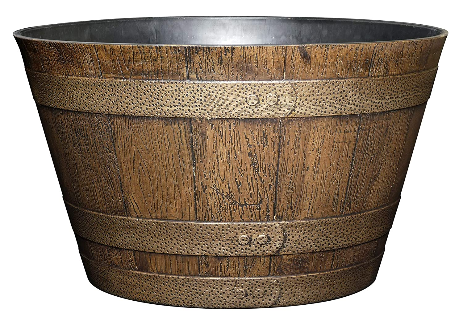 Classic Home and Garden Whiskey Barrel Planter