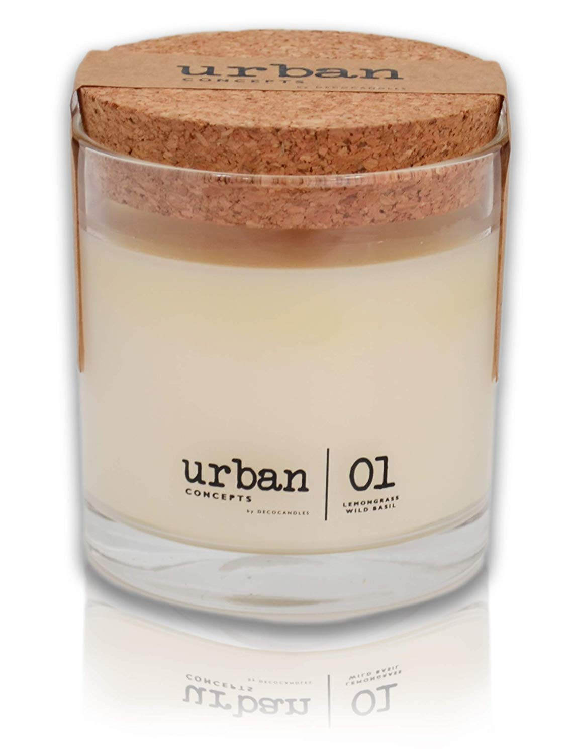 DecoCandleS Urban Concepts Tranquility Lemongrass Scented Candle