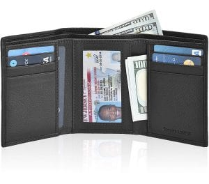ESTALON RFID Blocking Slim Trifold Wallet