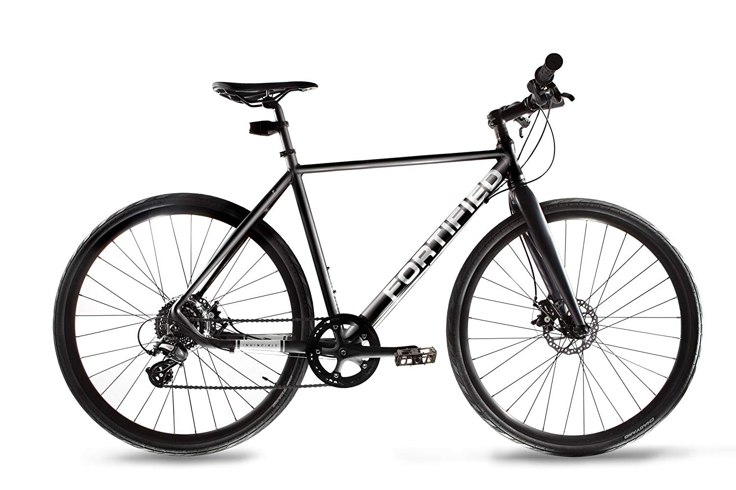 Fortified Theft-Resistant Disc-Brake City Commuter Bike, 8-Speed
