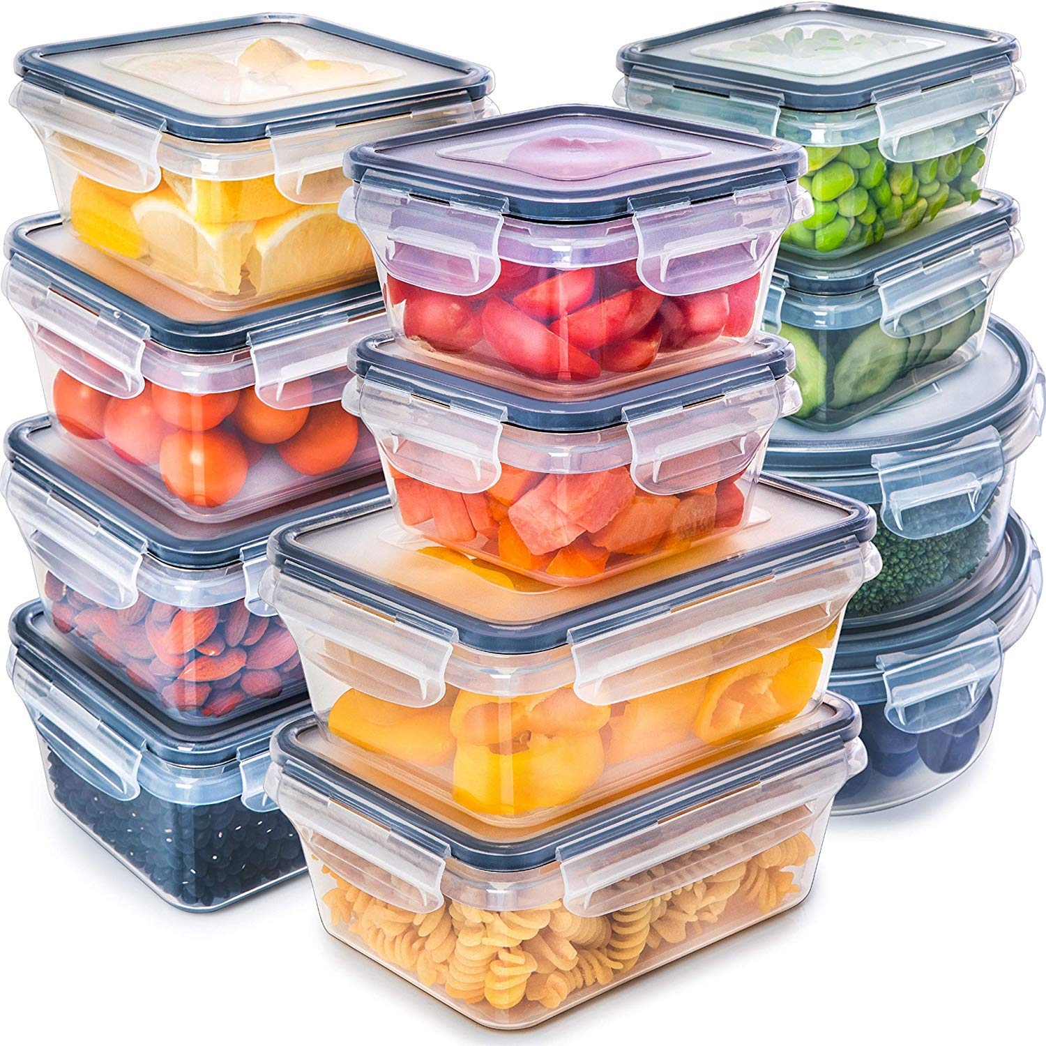 Fullstar Food Storage Containers with Lids, Set of 12
