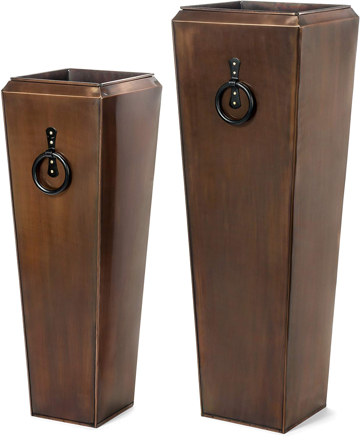 H Potter Tall Copper Planter, Set of 2