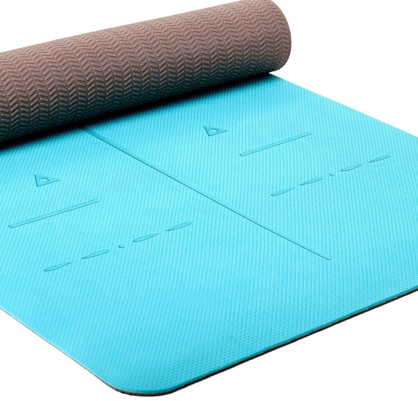 Heathyoga Eco-Friendly Yoga Mat, 1/4-Inch