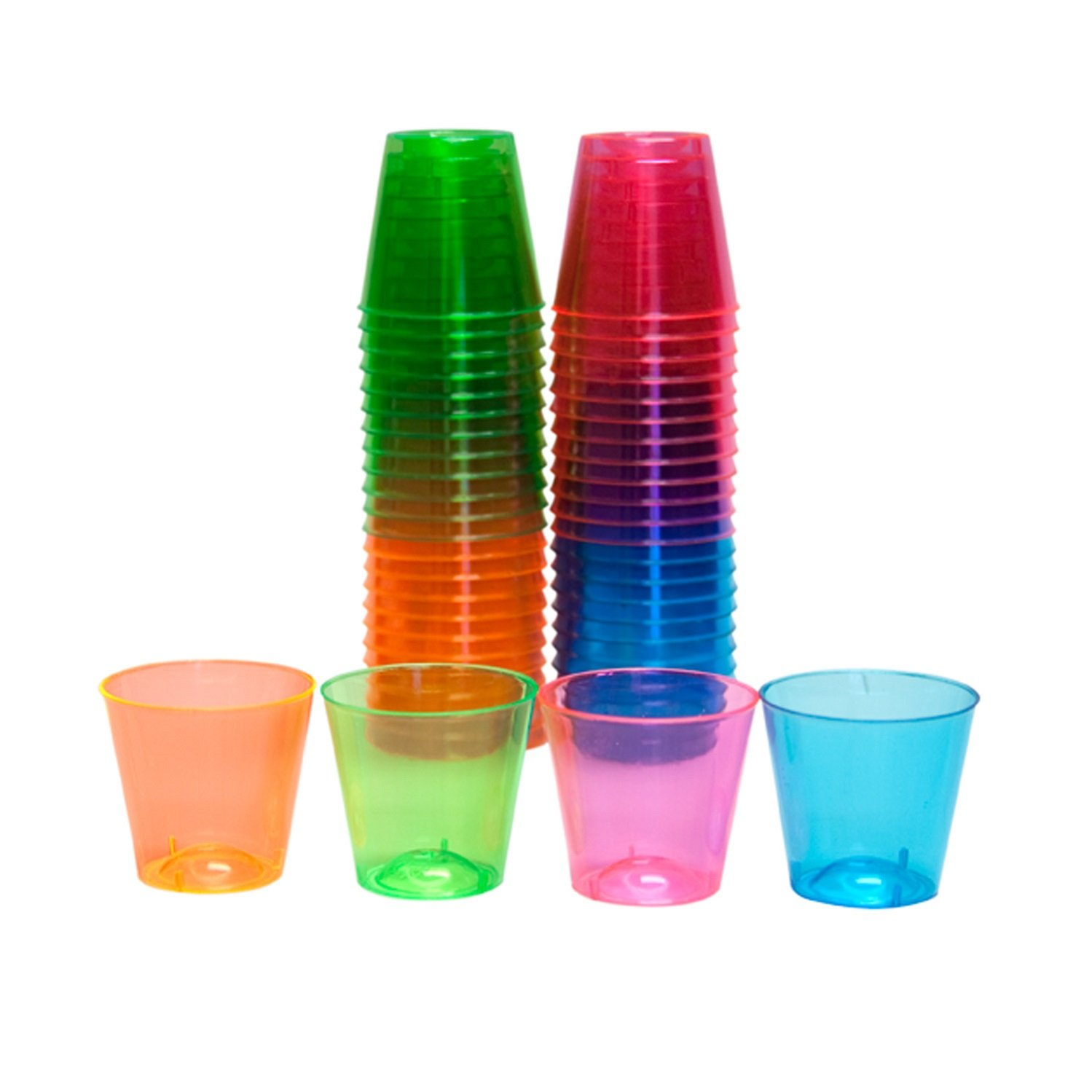 Party Essentials Plastic Shot Glasses, 50-Count