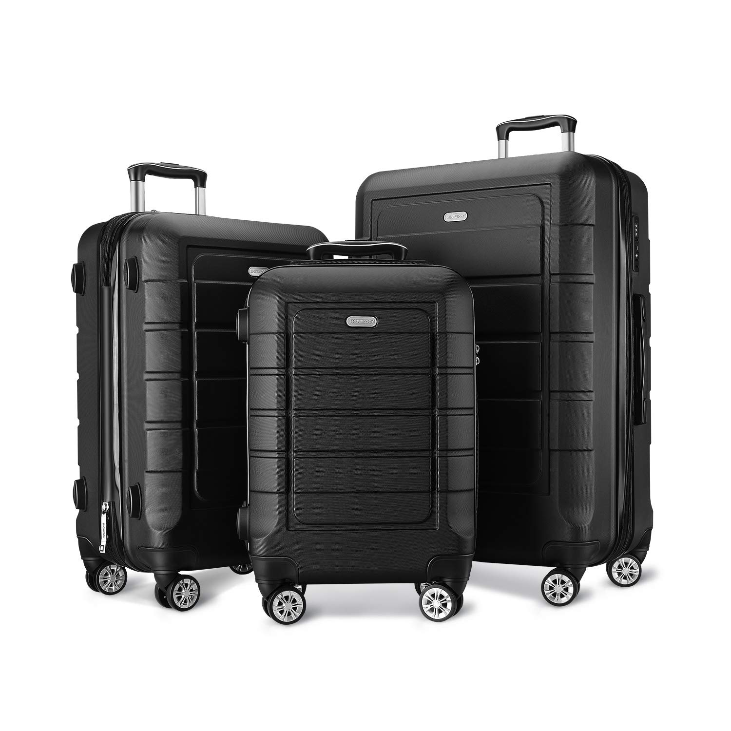 SHOWKOO Expandable Luggage Set, 3-Piece