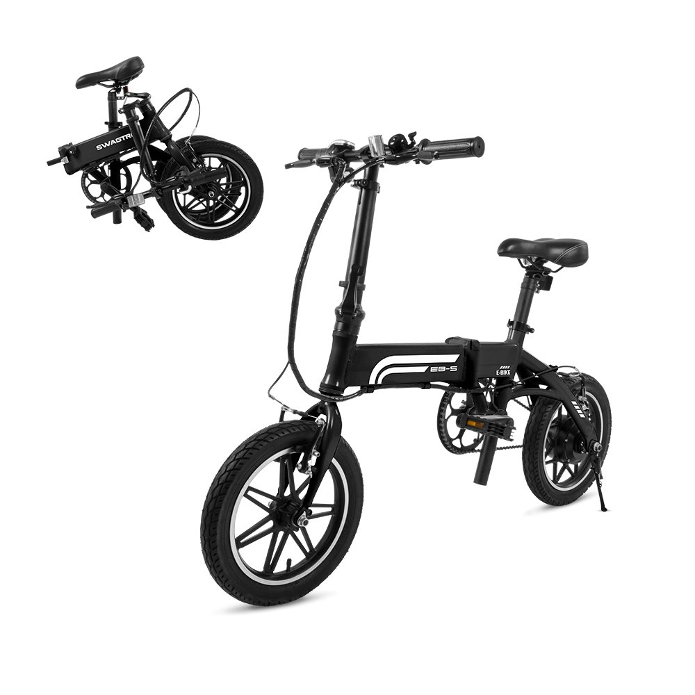 Swagtron Swagcycle EB5 Aluminum Folding Commuter Bike