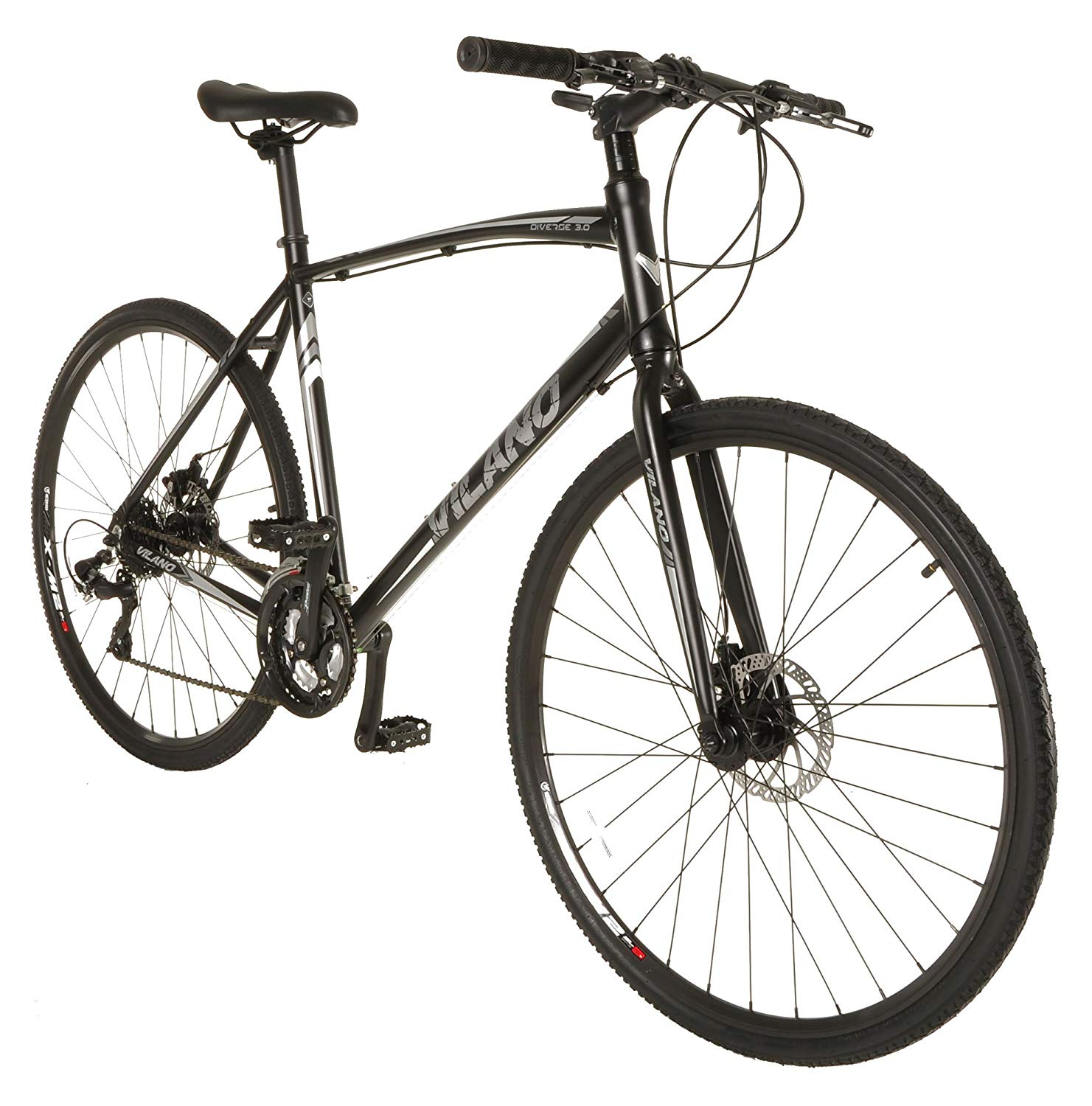 Vilano Diverse 3.0 Performance Hybrid Road Commuter Bike, 24-Speed