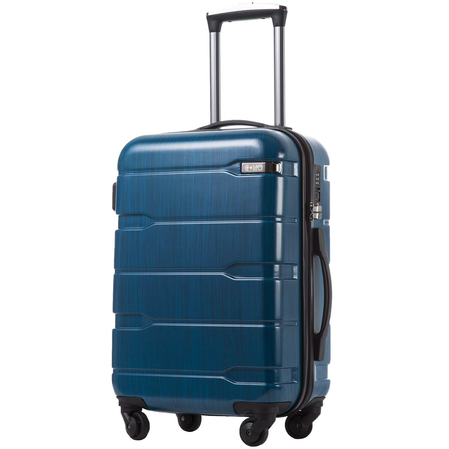 COOLIFE Expandable Spinner Carry-On Luggage, 20-Inch