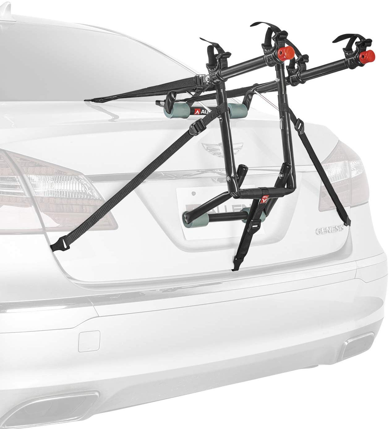Allen Sports Deluxe Trunk Mounted Bike Rack, 2-Bike