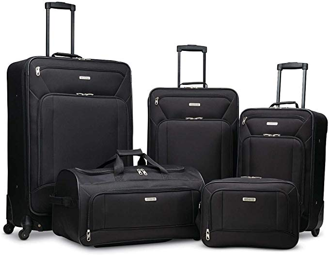 American Tourister Fieldbrook XLT Soft Shell Luggage, 5-Piece