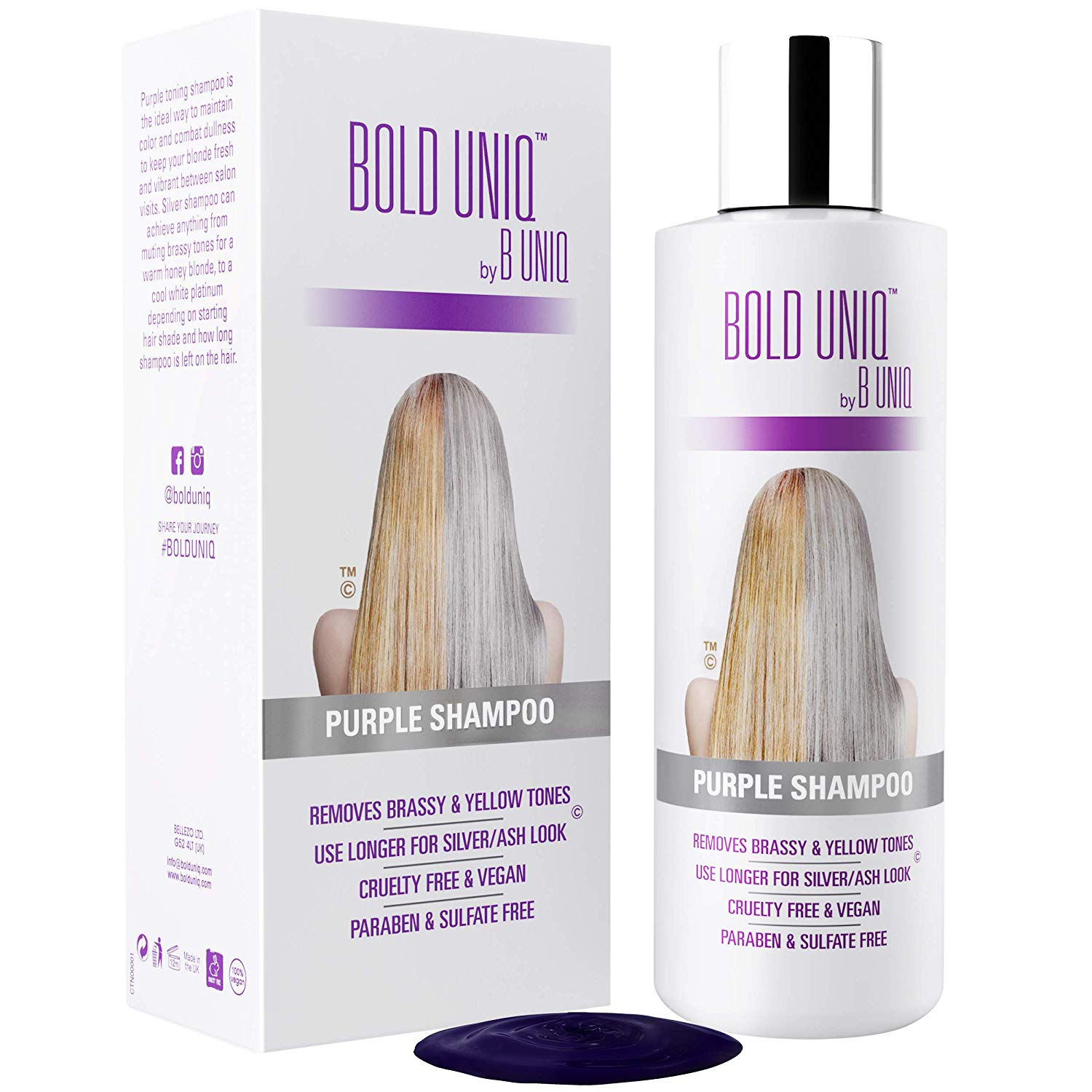 Bold Uniq Purple Shampoo for Blonde Hair, 8.5-Ounce