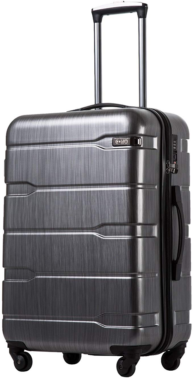 COOLIFE Expandable Spinner Traveler Suitcase, 20-Inch