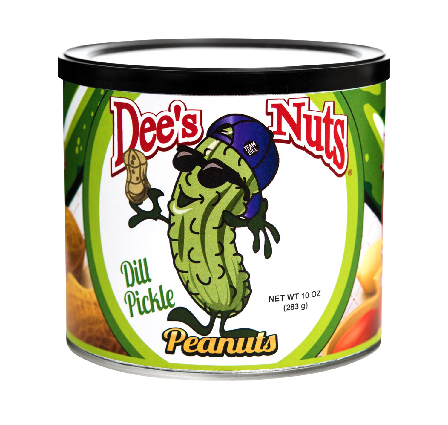 Dee's Nuts Dill Pickle Gourmet Peanuts, 10-Ounce