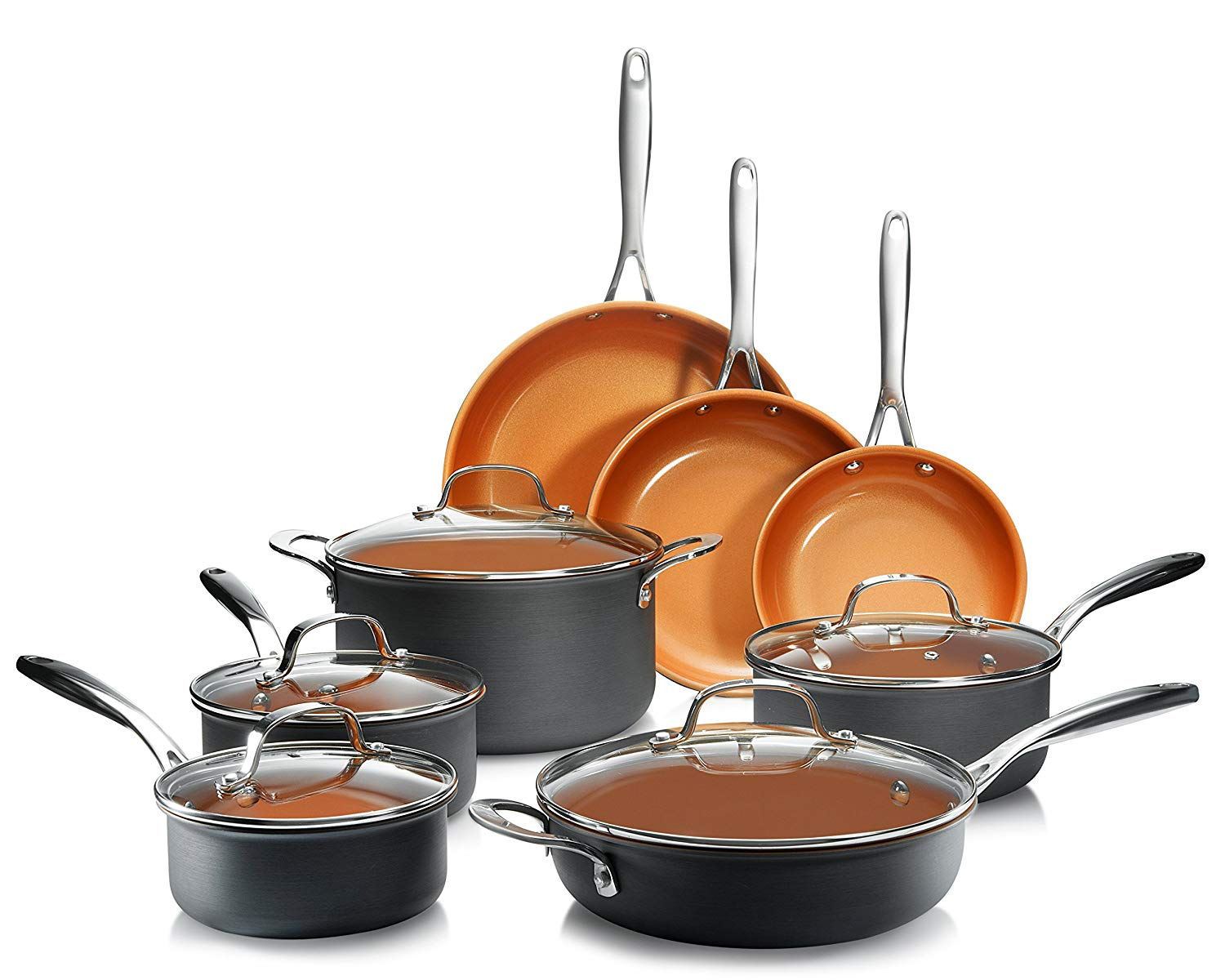 Gotham Steel Nonstick Ceramic Cookware Set, 13-Piece