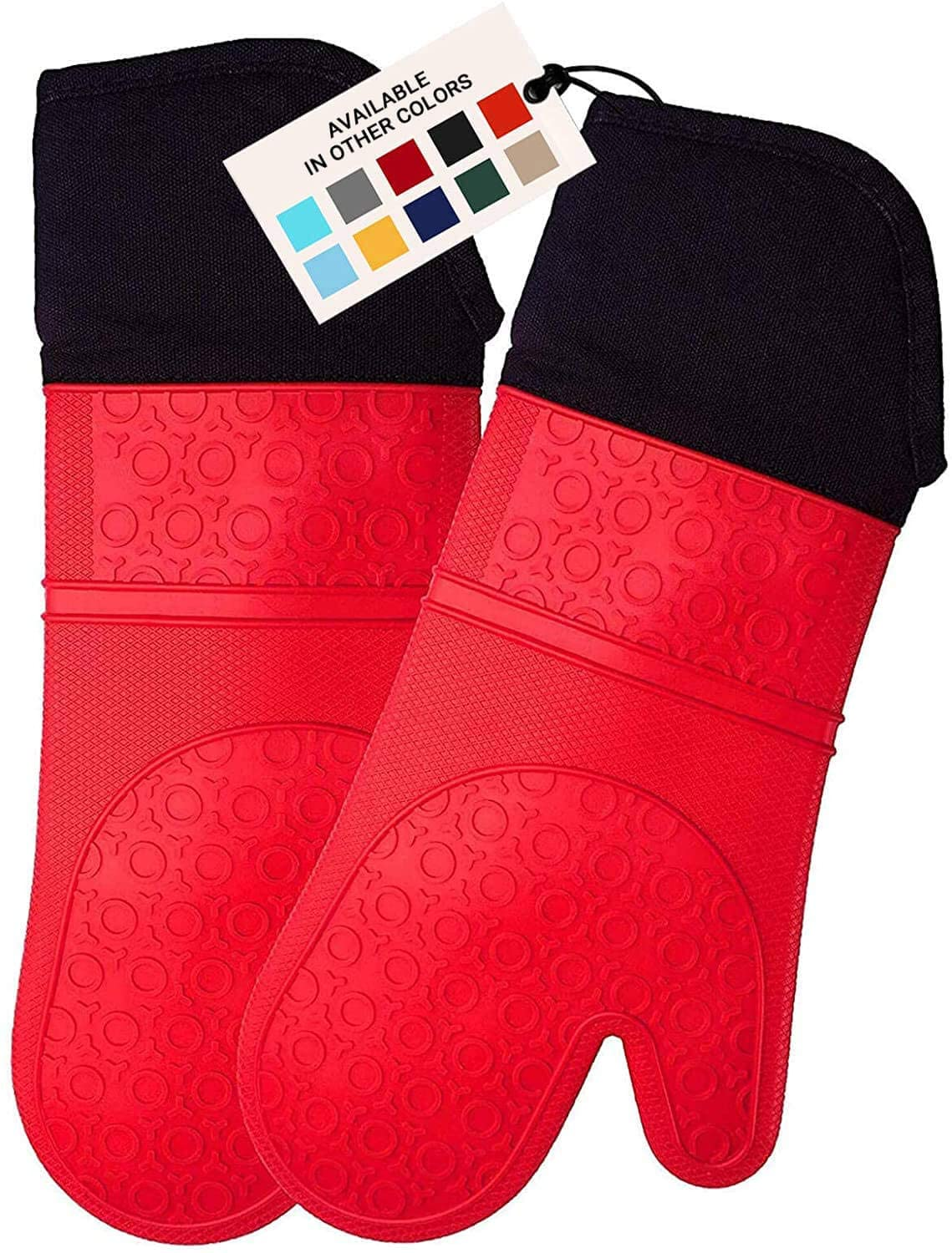 Homwe Silicone Heat-Resistant Oven Mitt