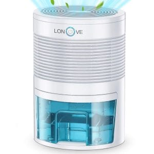 LONOVE Portable Electric Mini Dehumidifier, 27-Ounce