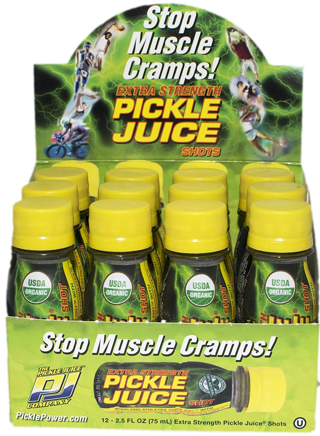 Pickle Juice Extra Strength Pickle Juice Shots, 2.5-Ounce