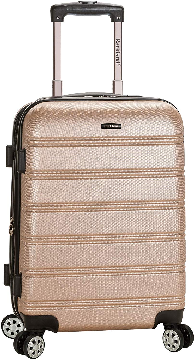 Rockland Melbourne Carry On Spinner Luggage, 20-Inch