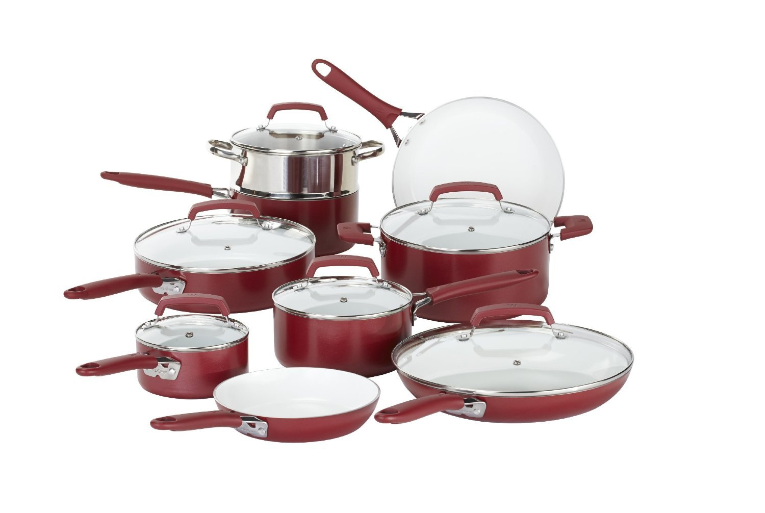 WearEver Ceramic Nonstick Cookware Set, 15-Piece