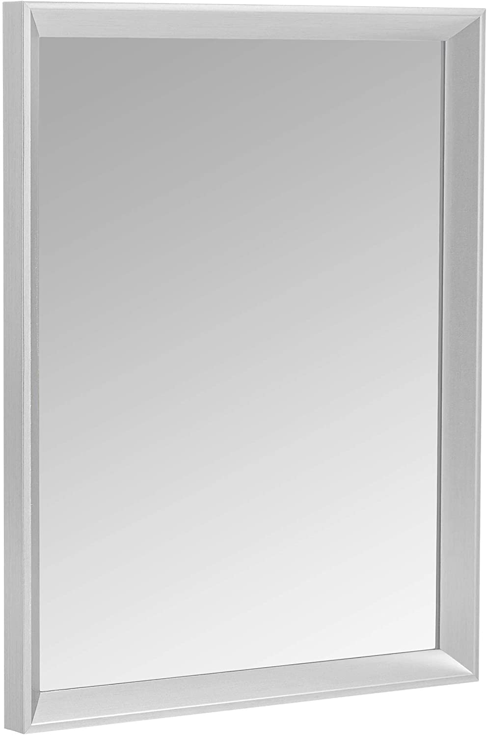 AmazonBasics Rectangular Peaked Trim Wall Bath Mirror