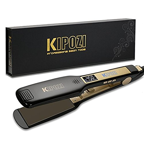 KIPOZI Professional Flat Iron Hair Straightener With Digital Display
