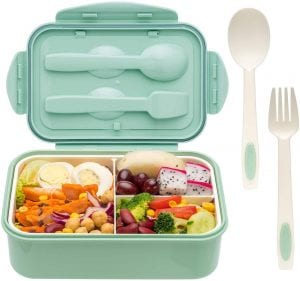 LOVINA BPA-Free Bento Box With Spoon & Fork
