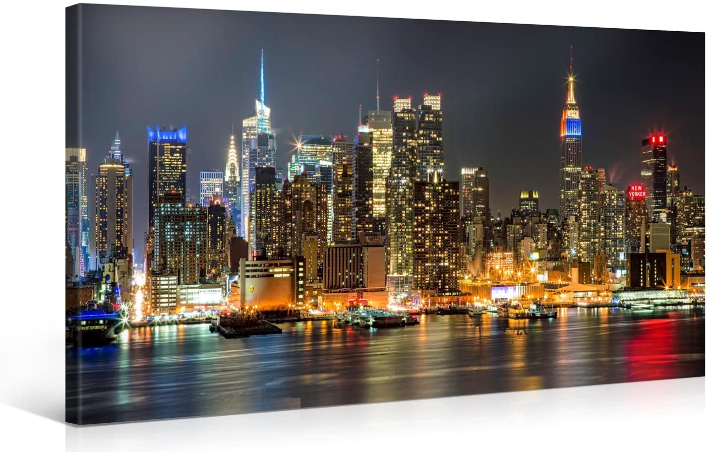 Make My Banner Manhattan Night Lights Canvas Art