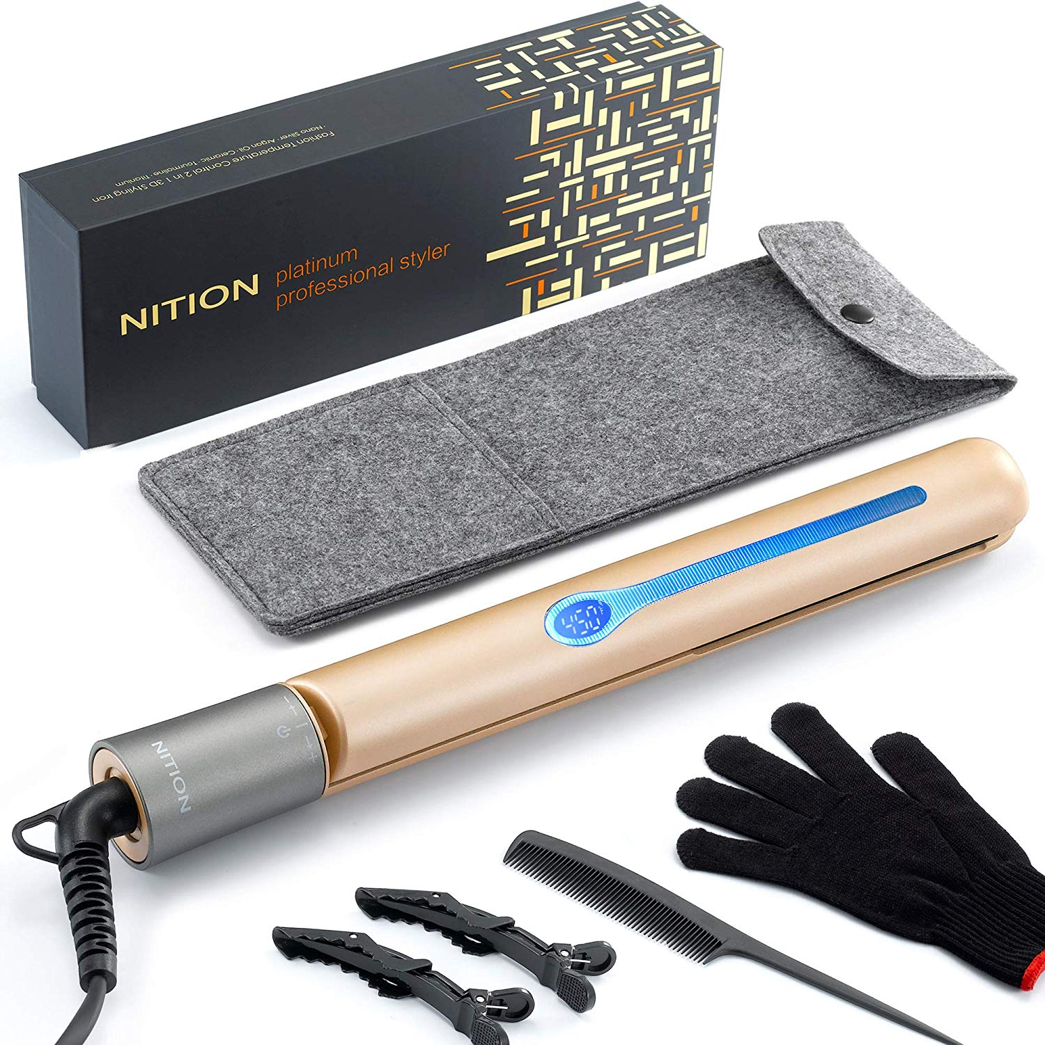 NITION Ceramic Hair Straightener Flat Iron