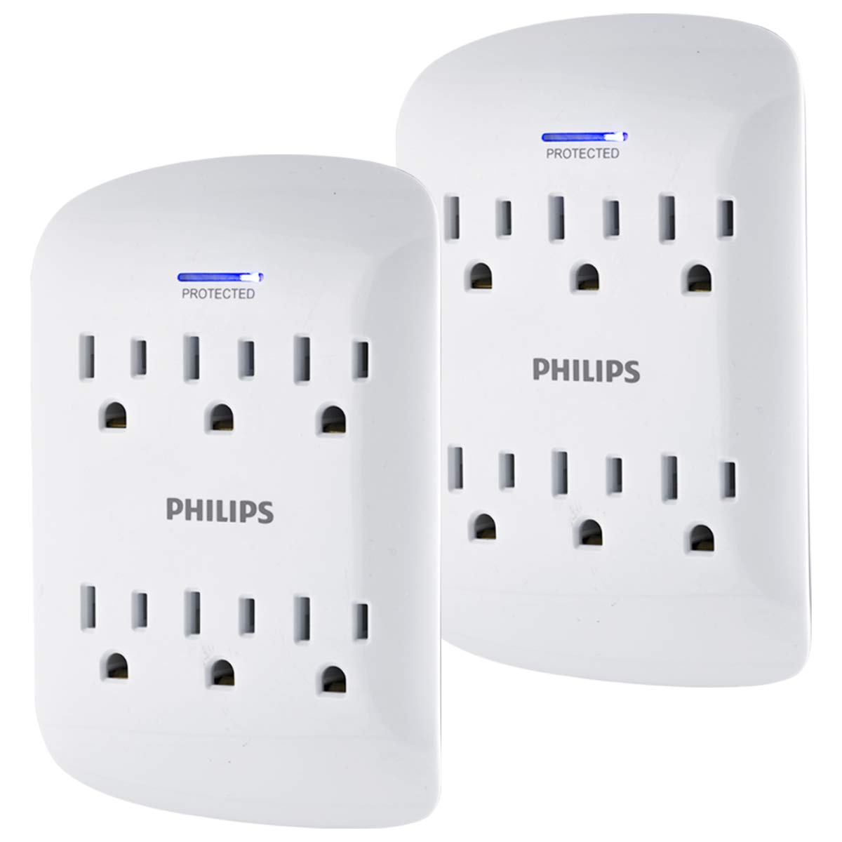 PHILIPS Surge Protector Tap, 6-Outlet