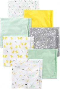 Simple Joys by Carter's Flannel Receiving Blankets, 7-Pack