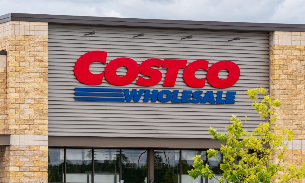 Costco wholesale storefront with sign