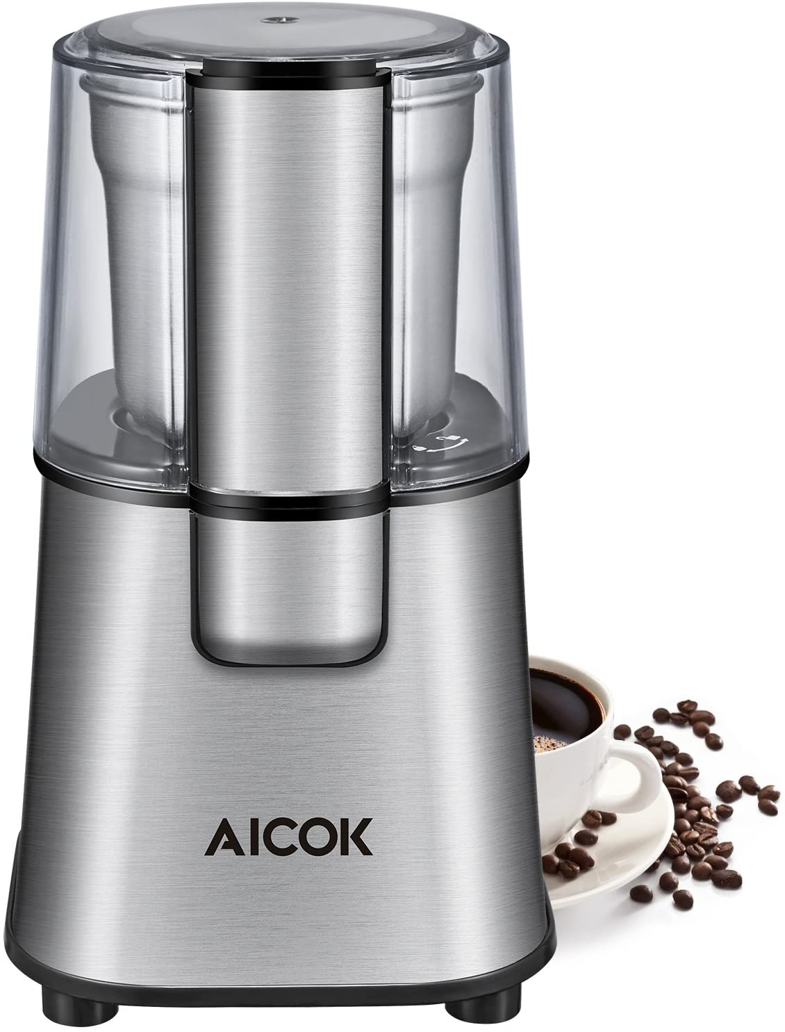 AICOK Large Capacity Detachable Coffee & Spice Grinder