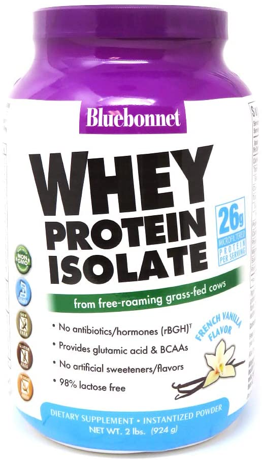 Bluebonnet Whey Protein Isolate Powder, French Vanilla