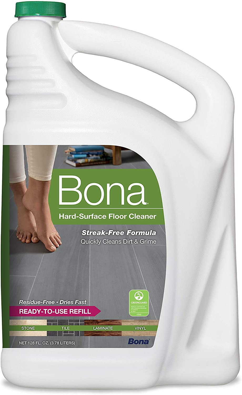 Bona Hard-Surface Clear Floor Cleaner Refill Mopping Solution