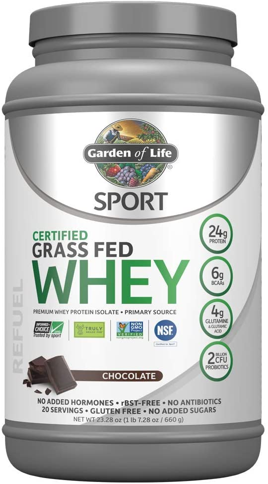 Garden Of Life Grass Fed Whey Protein Isolate Powder, Chocolate