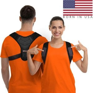 Gearari Unisex Adjustable Posture Corrector For Back Pain Relief And Support