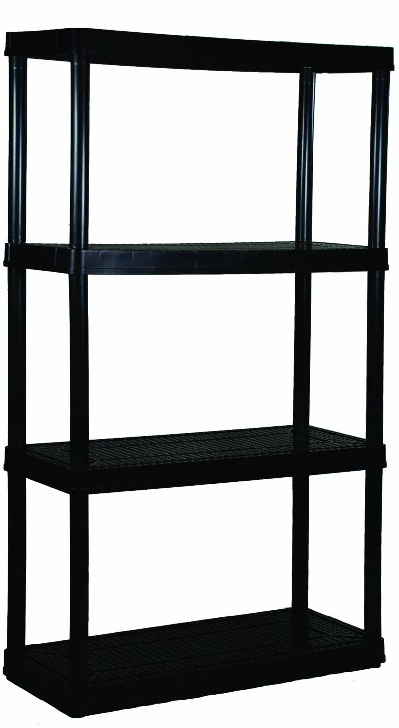 Gracious Living Medium Duty Shelf Unit, 4-Shelves