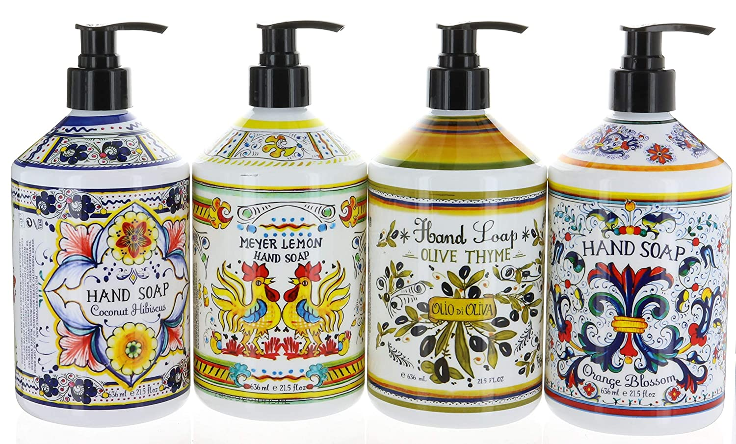 Home & Body Company Italian Deruta Hand Soap Collection, 4-Pack