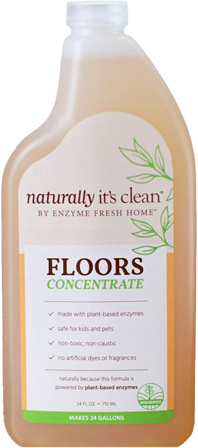 Naturally It's Clean Plant-Based pH Neutral Biodegradable Mopping Solution