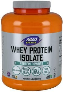NOW Sports Whey Protein Isolate Powder, Unflavored