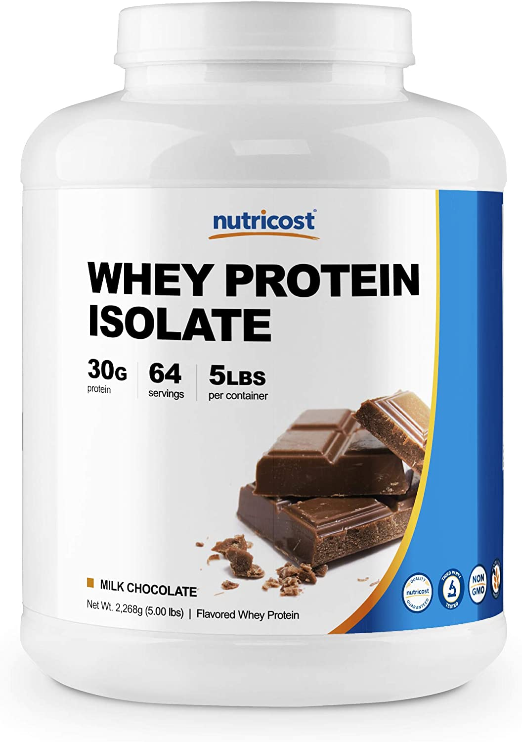 Nutricost Whey Protein Isolate Powder, Milk Chocolate