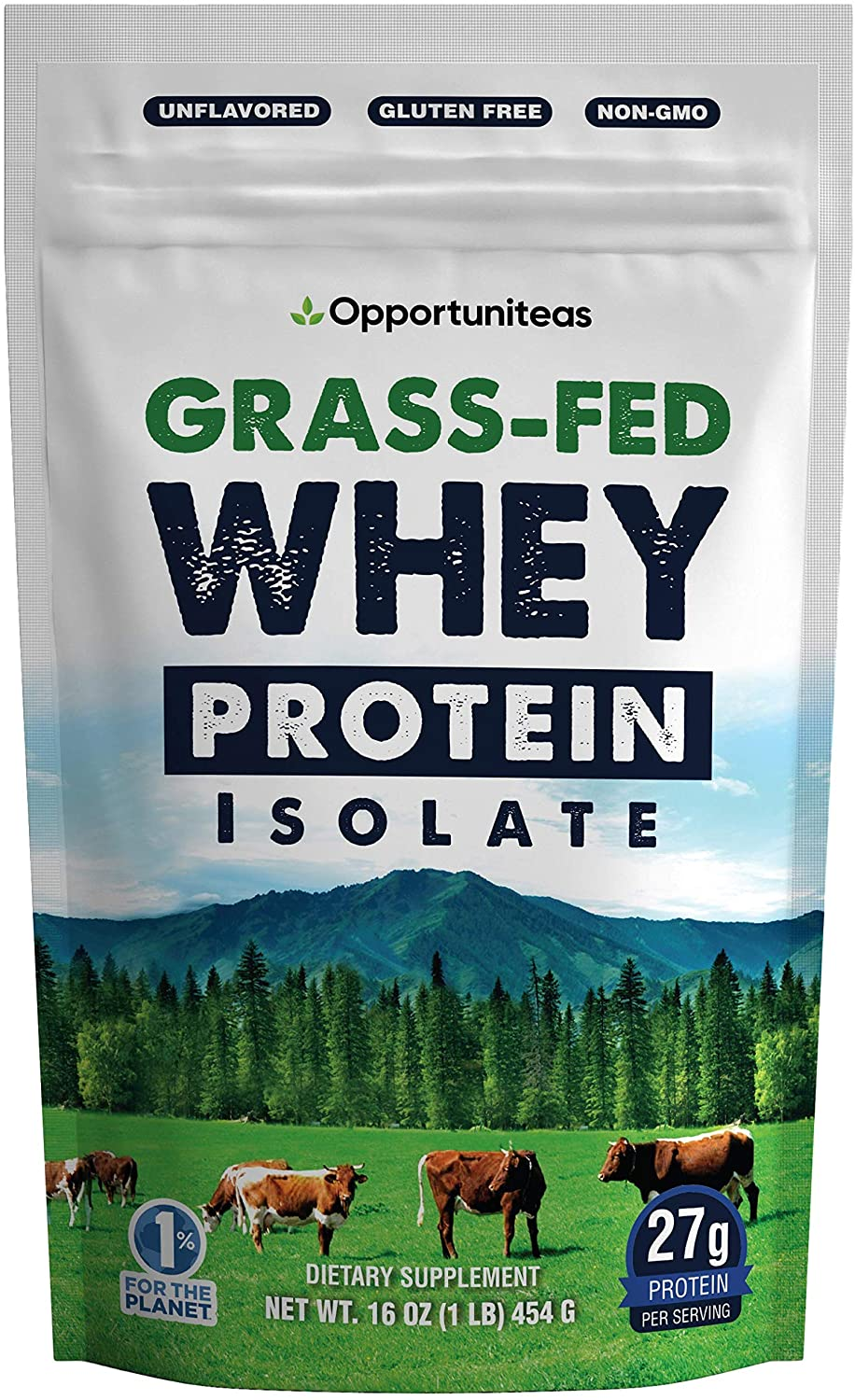 Opportuniteas Grass Fed Whey Protein Isolate, Unflavored