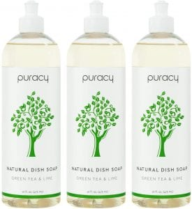 Puracy Sulfate-Free Green Tea & Lime Natural Dish Soap